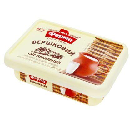 Сир плавлений пастоподібний ФЕРМА Вершковий 60% пластик. короб 0.160 кг, пак